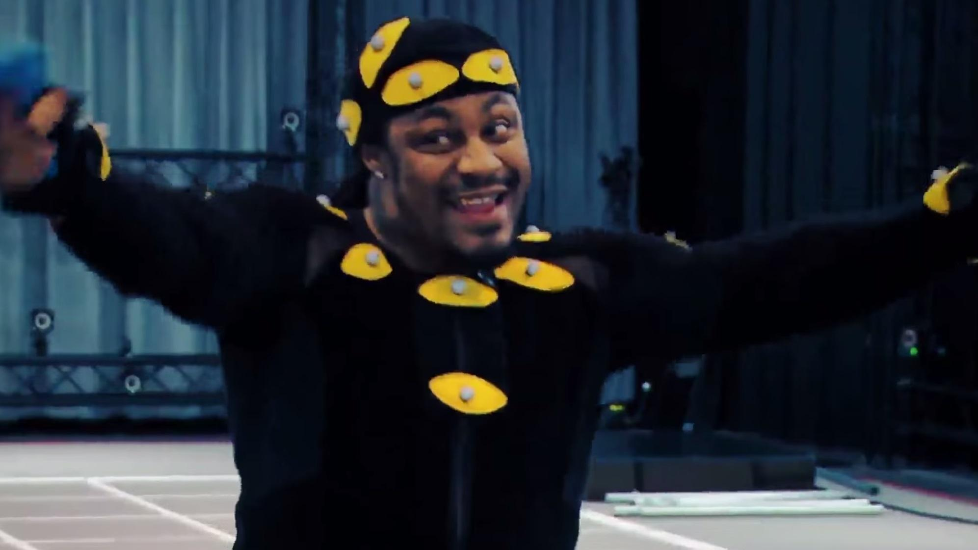 Conan looks at Marshawn Lynch in the new Call of Duty video game