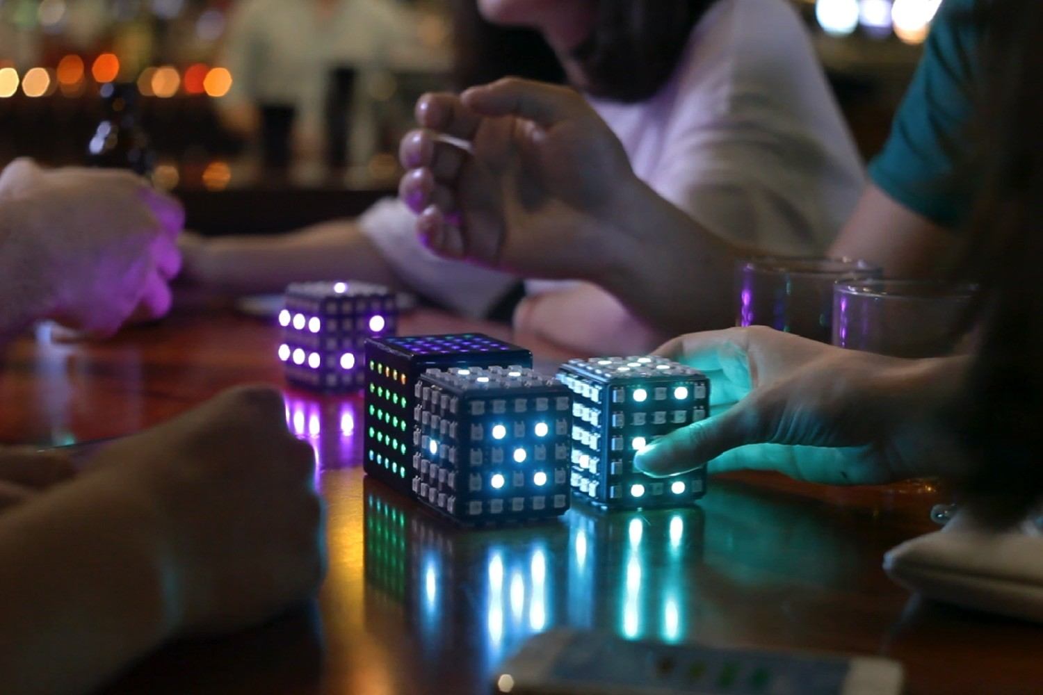 Rubik's Cube-like device lights up, lets you play 'Snake' in three dimensions