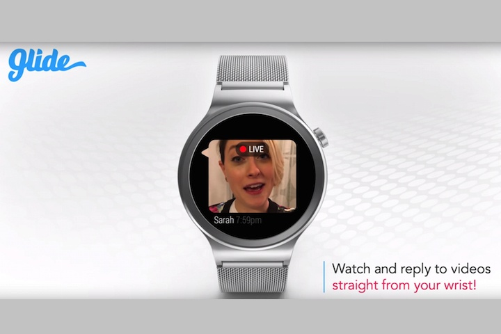 Glide's video messaging on Android Wear looks amazing, but it's really hard to get