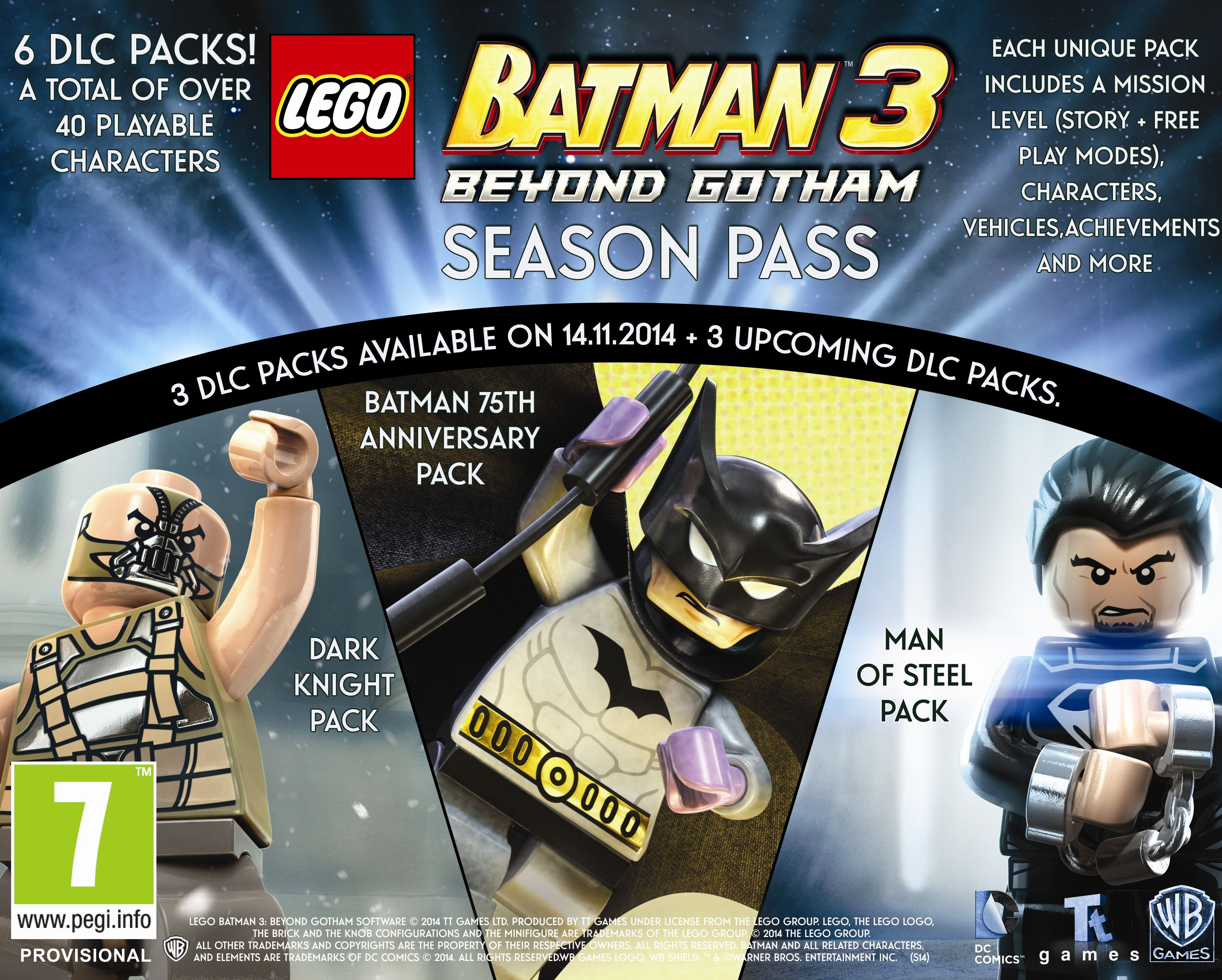 LEGO Batman 3: Beyond Gotham DLC Season Pass Skips Wii U, 3DS, and PS Vita