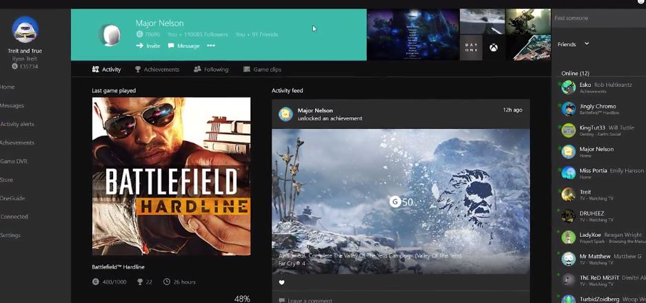 Xbox Windows 10 App Updated With Game DVR, Live TV, and More