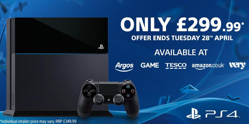 PS4 Price Slashed to £290 Following Xbox One Discount