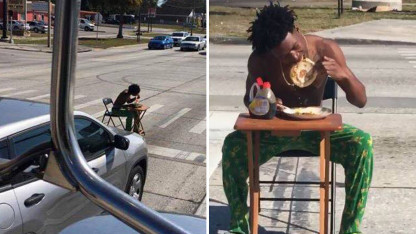 Prankster Arrested After Eating Pancake Breakfast in Busy Intersection: Cops