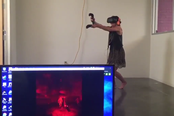 Woman experiences IRL terror as she's overrun by virtual reality zombies