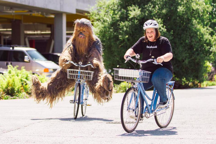 Chewbacca mask lady lives her best life with IRL Chewbacca at Facebook HQ