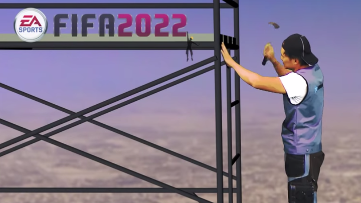 Satire imagines 'FIFA 2022' video game with 'dying construction workers'