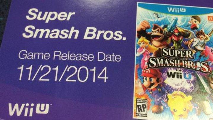 Rumor: Super Smash Bros. on Wii U launches Nov. 21