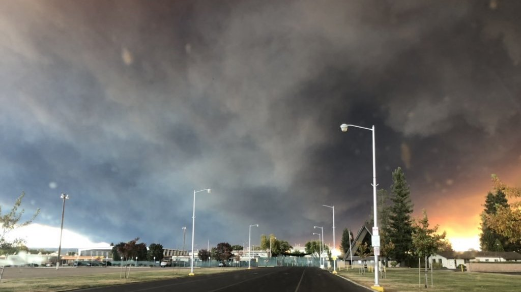 Wind-Driven Fire Barrels Through Northern California's Butte County