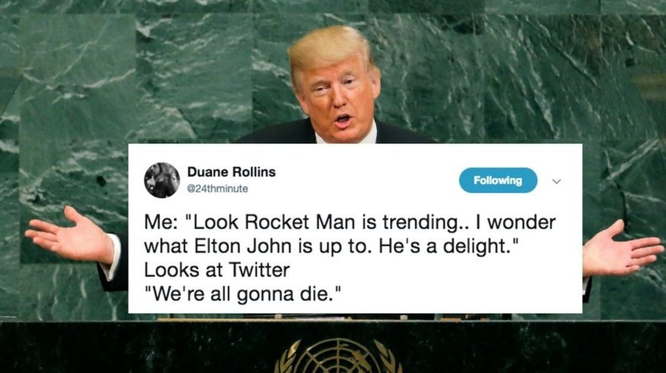Trump Called Kim Jong Un 'Rocket Man' And Twitter Just Can't