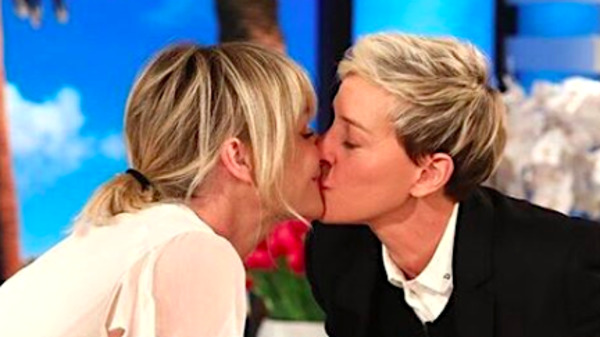 Ellen DeGeneres And Portia De Rossi Share A Birthday Kiss