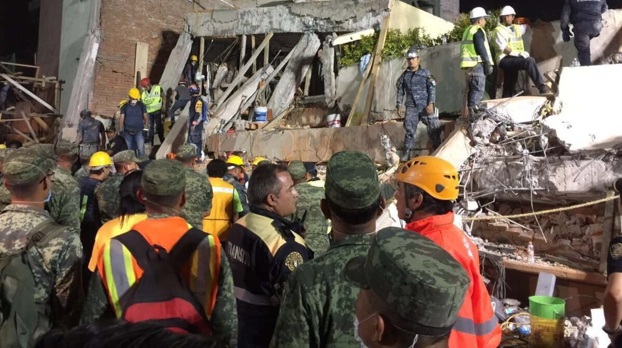 At Least 30 Children Killed After Earthquake Destroys Mexico City Primary School