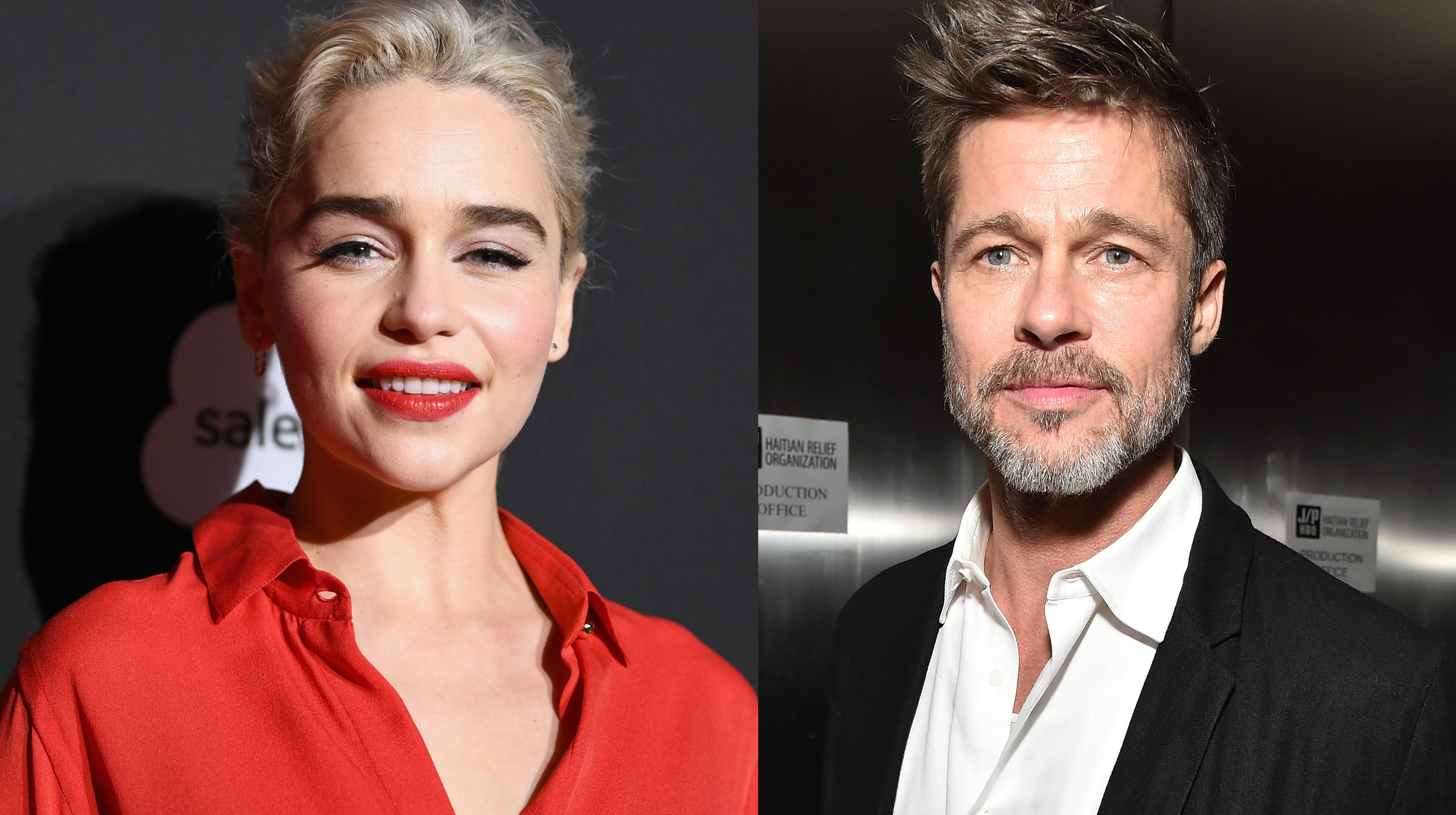 Brad Pitt Bids Six Figures To Watch 'Game Of Thrones' With Emilia Clarke