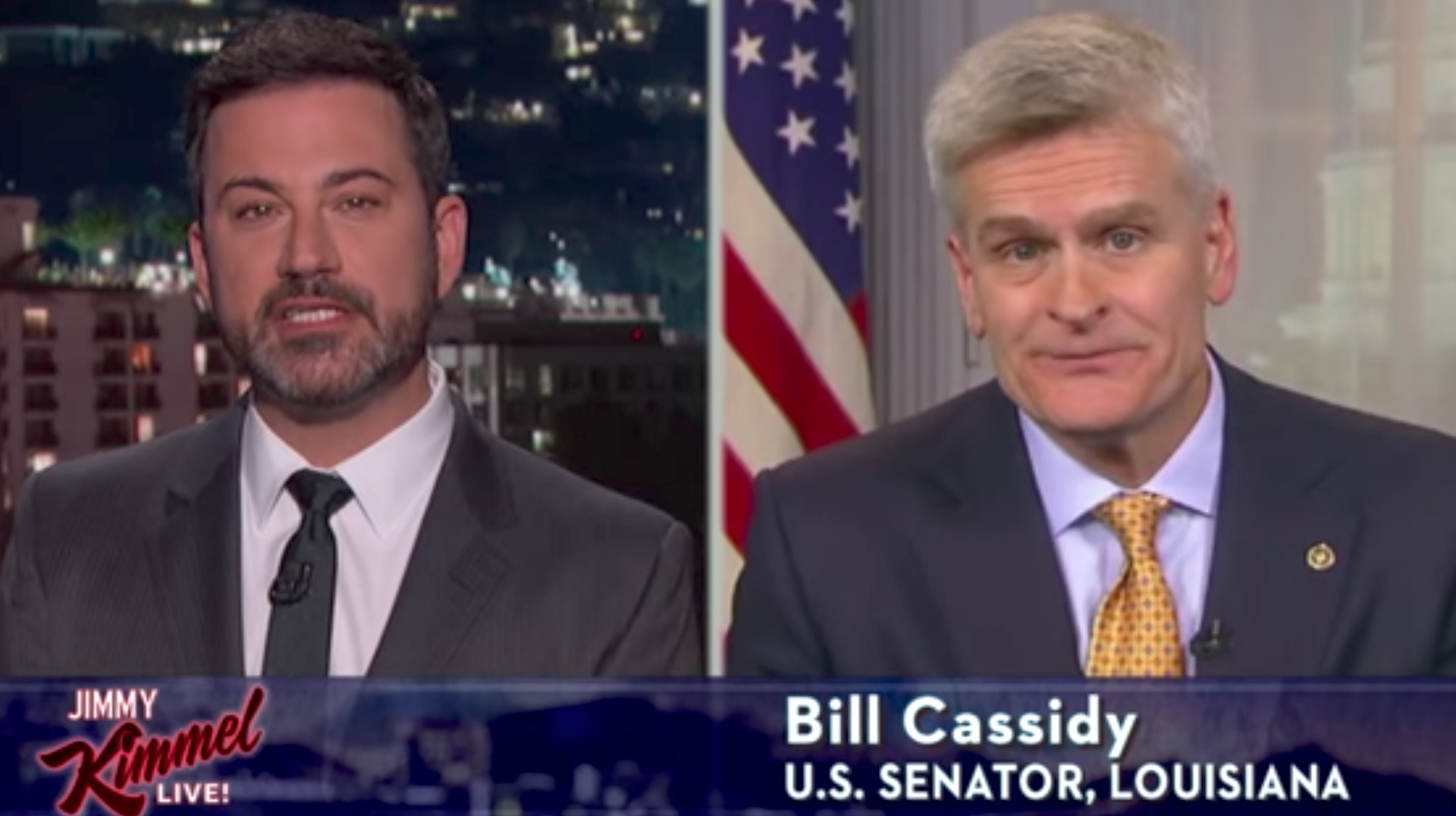 Jimmy Kimmel Says Sen. Bill Cassidy Lied To His Face About Obamacare Repeal