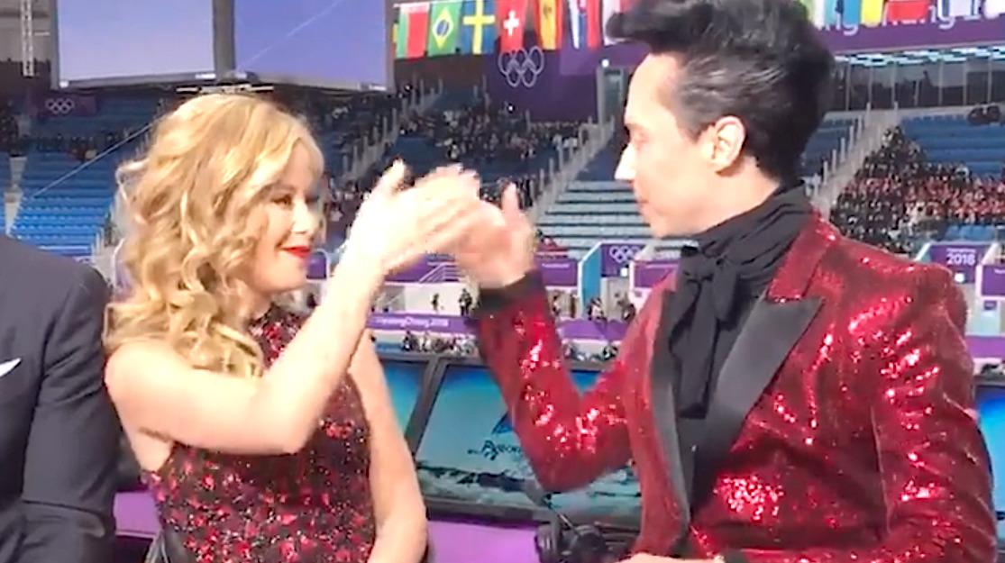 Tara Lipinski And Johnny Weir Have The Cutest Olympics Pre-Show Ritual