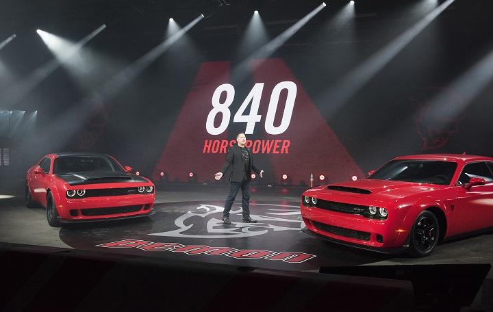 2018 Dodge Challenger SRT Demon introduction at the 2017 New York International Auto Show photo