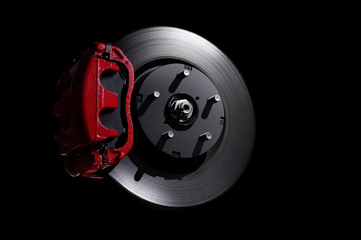 2018 Subaru WRX red-painted brake caliper photo