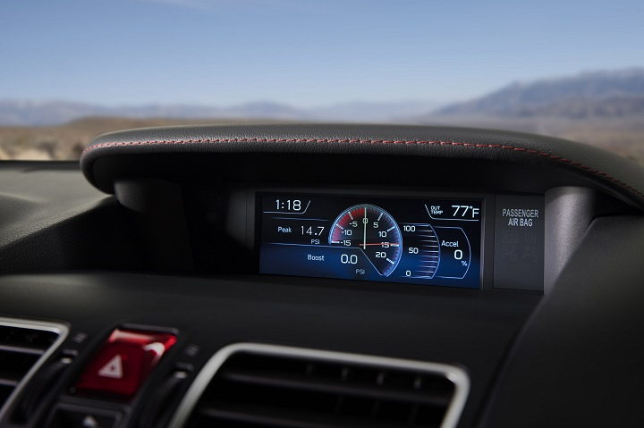 2018 Subaru WRX STI instrument display photo