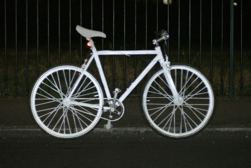 Volvo designed a reflective spraypaint to make cycling safer at night