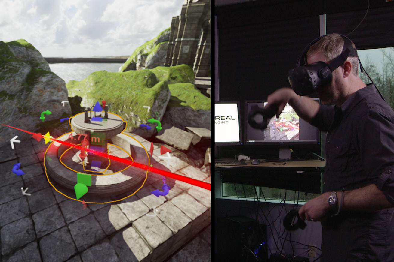 The Unreal Engine now lets you build games inside virtual reality