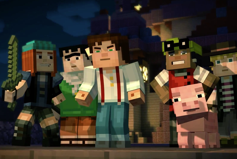First trailer for Minecraft: Story Mode shows a new take on iconic universe