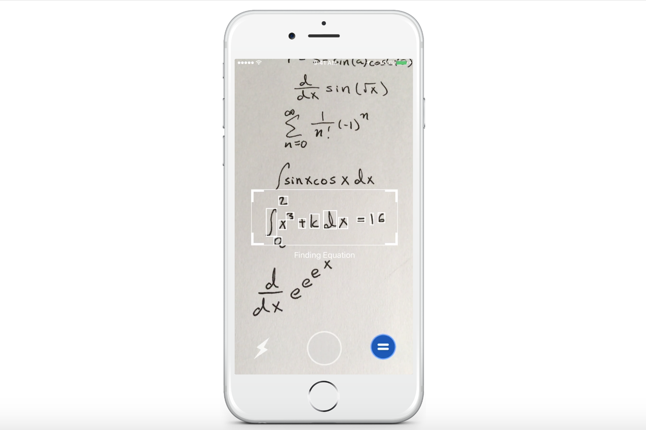 Mathpix will solve handwritten math equations for you