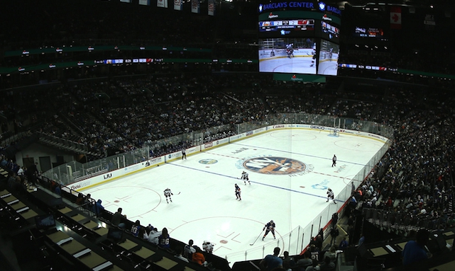The Barclays Center Tells Fans With Obstructed Views To Watch The Game On Their Mobile Phone