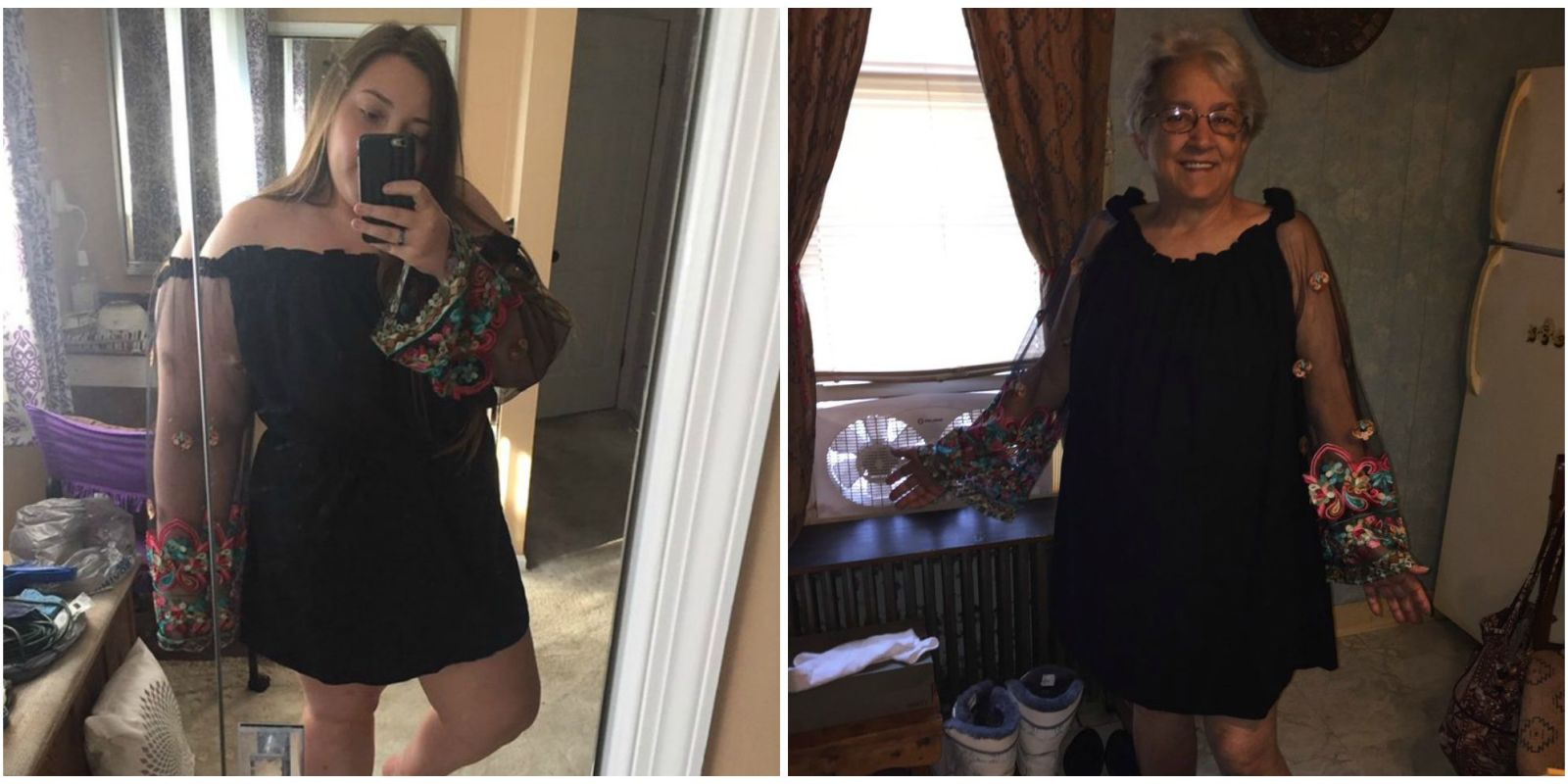 This Grandma Bought the Same Dress As Her Teenage Granddaughter for a Wedding