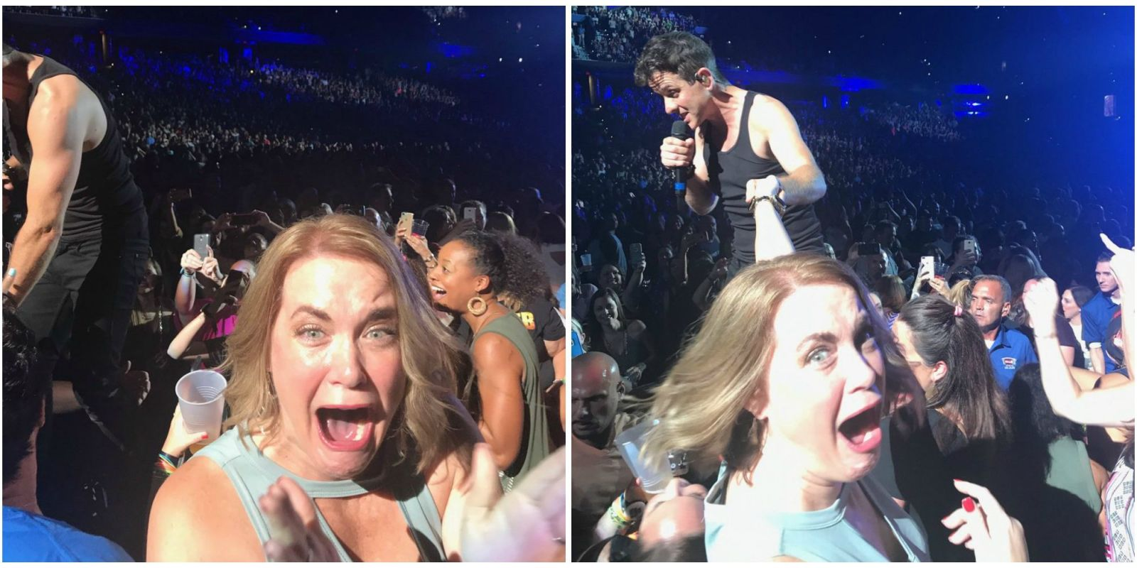 This Mom Freaked Out During a New Kids on the Block Concert and the Photos Are Hilarious