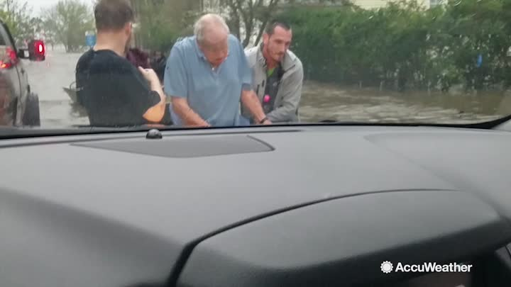 AccuWeather's Reed Timmer assists Cajun Navy with water rescues in North Carolina