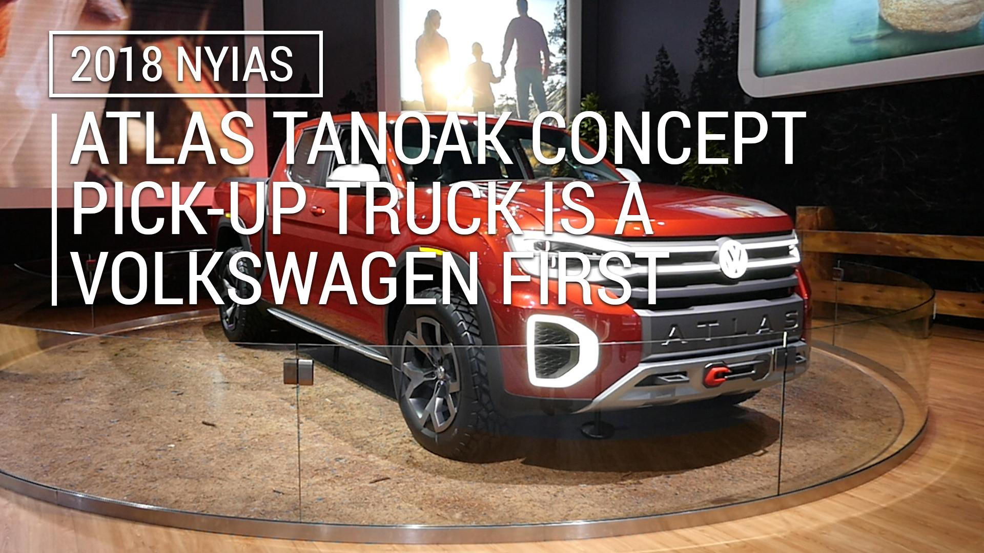 Atlas Tanoak Concept pick-up truck is a Volkswagen first