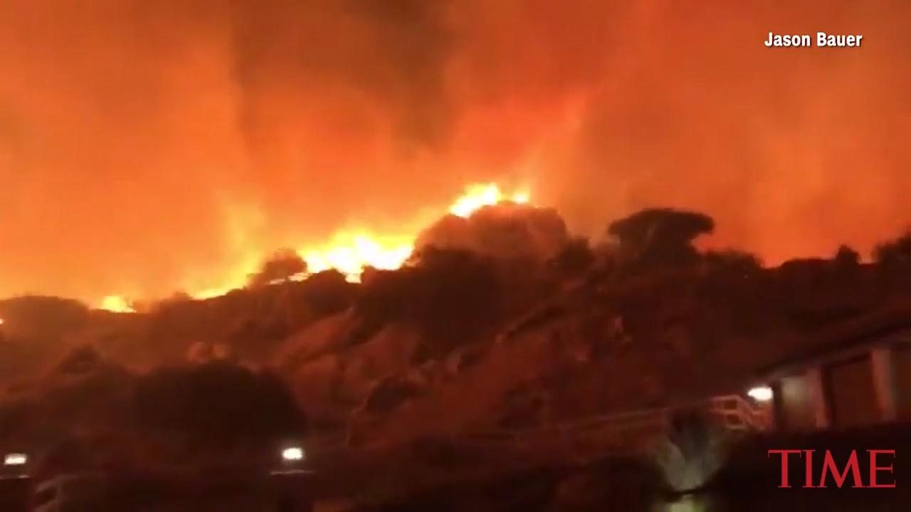 Wildfire Spreads Throughout Ventura County, California