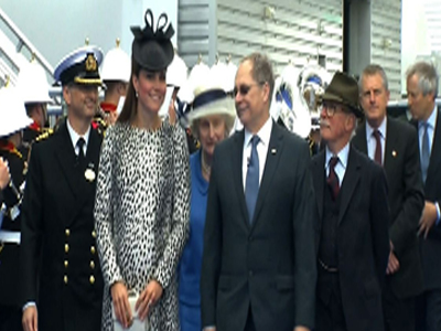 Raw: Duchess Kate Formally Names Cruise Ship