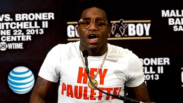 Adrien Broner talks during a press conference to promote his fight with Paulie Malignaggi. (Getty)