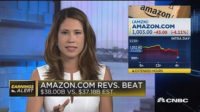 Amazon shares drop after big earnings miss