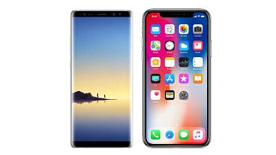 Here's how the iPhone X compares to the Galaxy Note 8