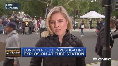 London police investigating explosion at tube station