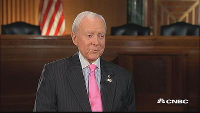 Sen. Orrin Hatch says he's tempted to write a song on tax...