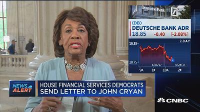 Rep. Waters: Want Deutsche Bank to volunteer info, but Tr...