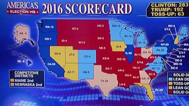 Trump vs. Clinton: The state of Fox electoral map and polls