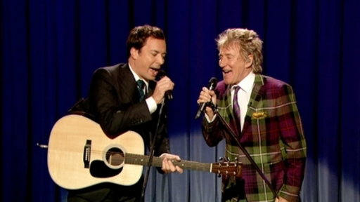 'Late Night With Jimmy Fallon': Rod Stewart Performs Song Jimmy Fallon Wrote for Him: