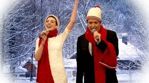 'Late Night With Jimmy Fallon': Mad Libs Christmas Carols With Anne Hathaway