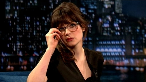 'Late Night With Jimmy Fallon': Dramatic Reads With Zooey Deschanel
