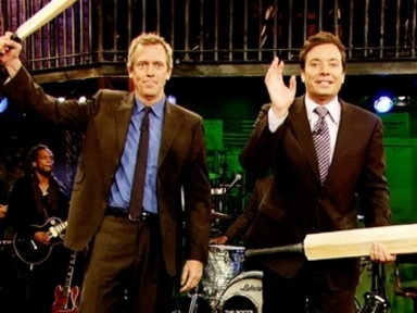 'Late Night With Jimmy Fallon': Cricket Home Run With Hugh Laurie