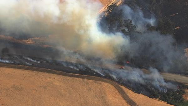 Fire burns 50 acres in Benicia