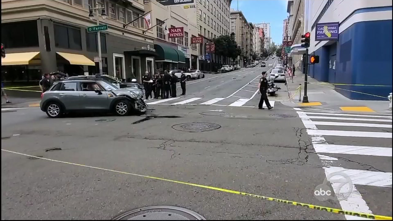 Man killed, wife injured after Tesla runs red light near San Franciscos Union Square