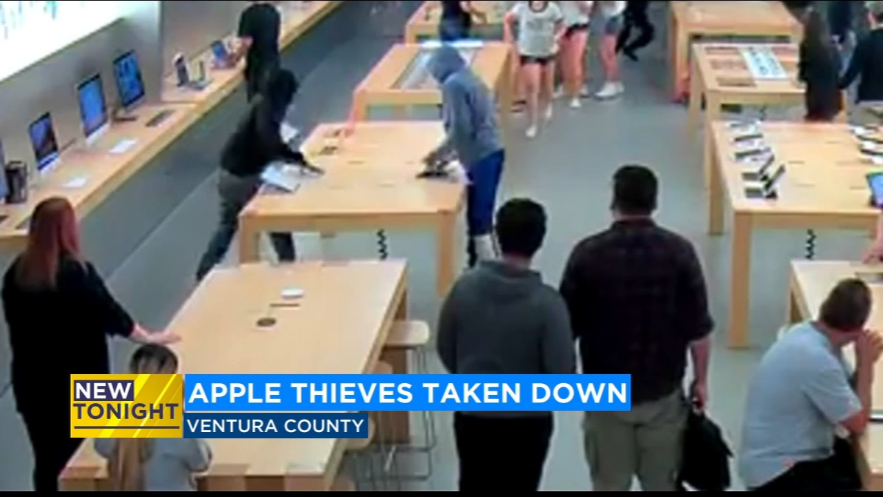 Apple store thieves arrested after good Samaritans in Ventura County hold them down
