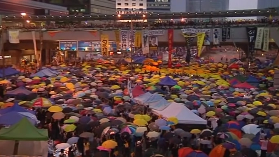 China fears Hong Kong protests now national security issue
