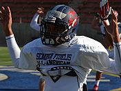 Shay Fields at Semper Fi All-American Bowl