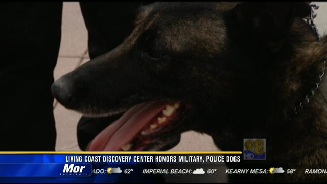 Living Coast Discovery Center honors military, police dogs
