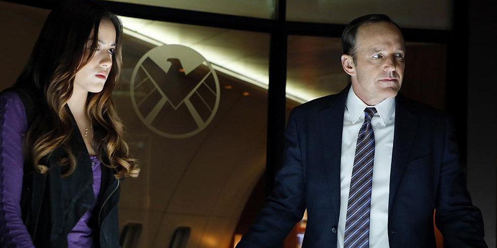 Chloe Bennet and Clark Gregg on 'Marvel's Agents of S.H.I.E.L.D.' (ABC)